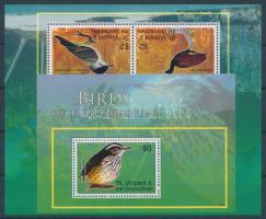 Birds mini sheet + block, Madarak kisív + blokk