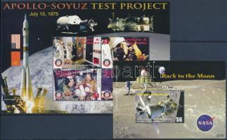 Space Exploration mini sheet + block, Űrkutatás kisív + blokk