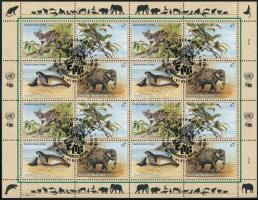 Endangered animals (II) mini sheet, Veszélyeztetett állatok (II). kisív