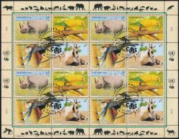 Endangered animals (III.) minisheet, Veszélyeztetett állatok (III). kisív