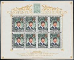 Liechtenstein stamp mini sheet, 75 éves a liechtensteini bélyeg kisív