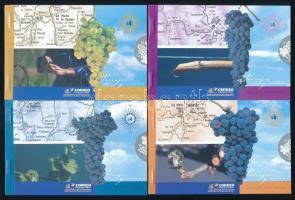 Wine 4 stamp booklets, Bor 4 db bélyegfüzet