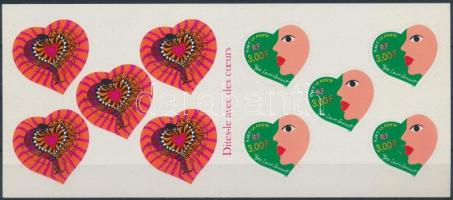Valentine's day greeting card, Valentin napi üdvözlőbélyegek bélyegfüzet