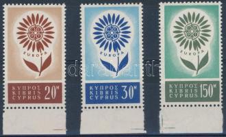 1964 Europa CEPT ívszéli sor Mi 240-242