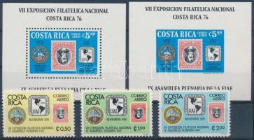 International Stamp Exhibition set + blockset, Nemzetközi bélyegkiállítás sor + blokksor