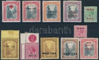 1917-1919 11 stamps 1917-1919 11 klf bélyeg