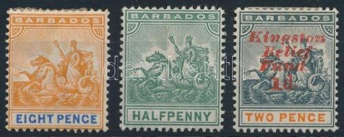 1892-1907 Mi 49, 63a, 80 1892-1907 Mi 49, 63a, 80