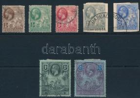 Definitive 7 diff stamp (2Sh repaired corner), Forgalmi 7 klf bélyeg (2Sh javított sarok / repaired corner)