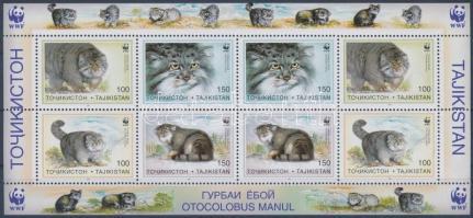 WWF Pallas's cat mini sheet, WWF: Pusztai macska kisív
