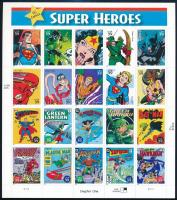 Comic book figures self-adhesive minisheet, Képregényfigurák öntapadós kisív