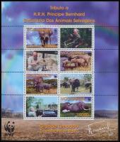 WWF: African elephant minisheet, WWF: Afrikai elefánt kisív