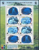 1999 WWF Rókák - IBRA 99 Bélyegkiállítás hologrammos kisív Mi 172-175