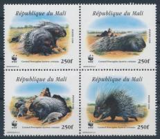 WWF: Tarajos sül négyestömb, WWF: Crested porcupine block of 4