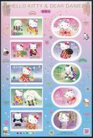 Hello Kitty self-adhesive mini sheet, Hello Kitty öntapadós kisív
