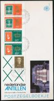 Queen Beatrix stamp-booklet sheet on FDC, Beatrix királynő bélyegfüzetlap  FDC-n