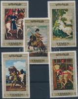 1968 Lovas festmények (I.) sor Mi 751-755