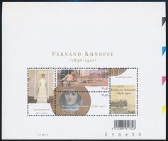 Fernand-Khnopff-kiállítás blokk, Fernand-Khnopff exhibition block