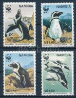 The jackass penguin set + 4 pcs FDC Pápaszemes pingvin sor + 4 db FDC