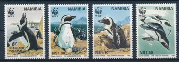 African Penguin set + 4 FDC, Pápaszemes pingvin sor + 4 db FDC