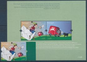 Europa CEPT margin stamp + block, Europa CEPT ívszéli bélyeg + blokk