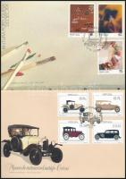 1990-1992 4 diff FDC, 1990+1992 4 klf FDC