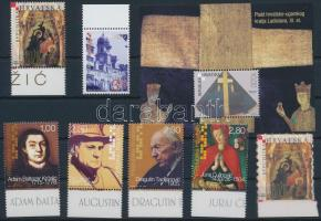 2003+2005 3 diff stamp + 1 set + 1 block, 2003+2005 3 klf önálló érték + 1 sor + 1 blokk
