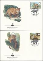 WWF: Jaguar set on 4 FDC WWF: Jaguár sor 4 db FDC-n