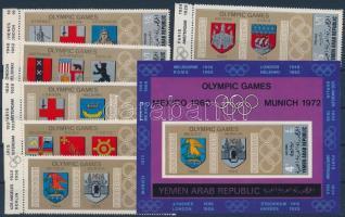 Olympics margin sheet set + block, Olimpia ívszéli sor + blokk