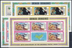 Centenary of UPU mini sheet set, 100 éves az UPU kisívsor