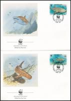 WWF Sea animals set on 4 FDC WWF: Tengeri állatok sor 4 db FDC-n