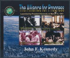 J. F. Kenedy mini sheet, 90 éves lenne J. F. Kenedy kisív