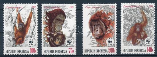 WWF: Orangutan set + 4 FDC, WWF: Orángután sor + 4 db FDC