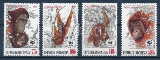 WWF Orangutan set + 4 FDC WWF: Orángután sor + 4 db FDC