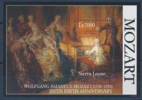2007 250 éve született Wolfgang Amadeus Mozart blokk Mi 630