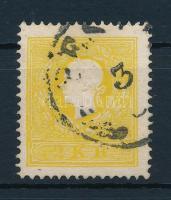 """2kr II.  sulphur-yellow. Certificate: Steiner, 2kr II. kénsárga """"PES(TH)"""" Certificate: Steiner"""