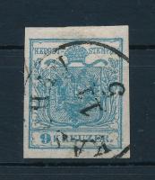 1850 9kr HP I. szürkéskék / grey blue KAS(C)HAU Certificate: Steiner