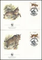 WWF: Iberian lynx set on 4 FDC, WWF: Ibériai hiúz sor 4 db FDC-n