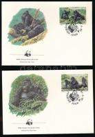 WWF: Gorilla set + 4 FDC WWF: Gorilla sor + 4 db FDC