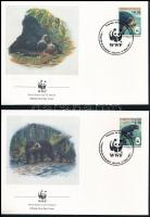 WWF: Spectacled bear set on 4 FDC WWF: Pápaszemes medve sor 4 FDC-n