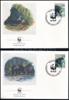 WWF: Spectacled bear set on 4 FDC, WWF: Pápaszemes medve sor 4 FDC-n