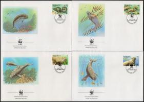 WWF: Dugong set on 4 FDC WWF: Dugong sor 4 db FDC-n