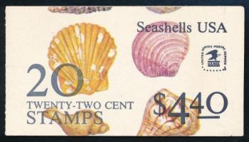 Seashells stamp booklet, Kagylók bélyegfüzet
