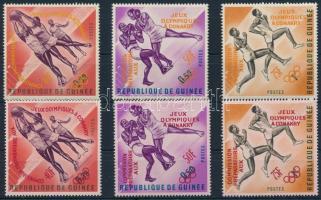 Pre-Olympics Sports Games 2 sets with overprint variations, Előolimpiai sportjátékok 2 sor felülnyomás változatokkal