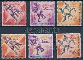 Pre-Olympics Sports Games 2 sets with overprinted versions, Előolimpiai sportjátékok 2 sor felülnyomás változatokkal