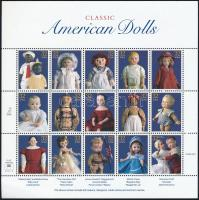 Dolls mini sheet, Játékbabák kisív
