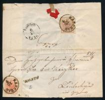 ~1852 3kr with margin + 6kr with watermark on registered cover