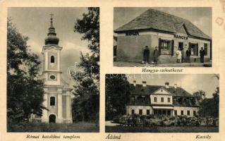 Ádánd, Római katolikus templom, Csapody kastély, Hangya fogyasztási szövetkezet üzlete és saját kiadása (EK)