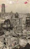 1940 Rotterdam, Overzicht van de verwoestig der binnenstad / view after the WWII German bombings, ruins. Foto S. G. Brusse (EK)