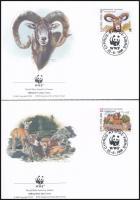 WWF Mouflon set on 4 FDC WWF: Muflon sor 4 db FDC-n