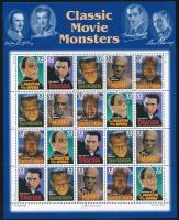1997 Klasszikus horrorfilm figurák, köztük Lugosi Béla kisív Mi 2893-2897
